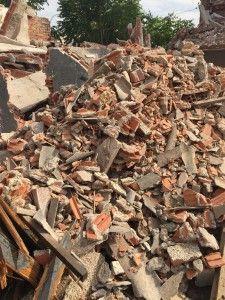 escombros contaminados amianto