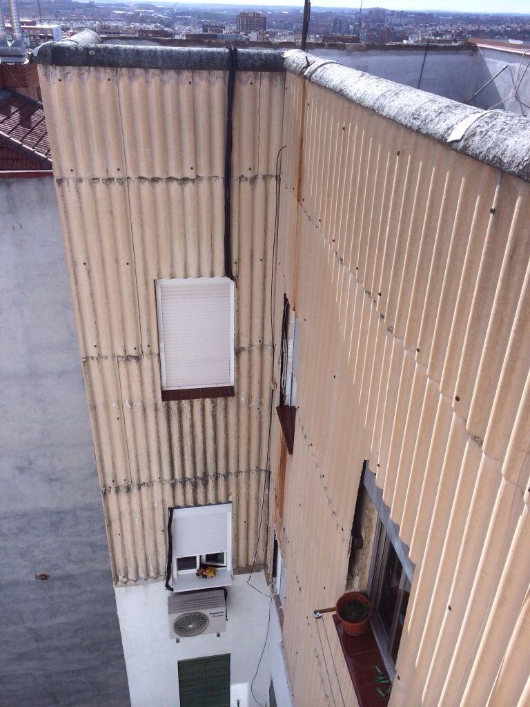 Fibrocemento con amianto en fachadas retirada de for Fibrocemento sin amianto
